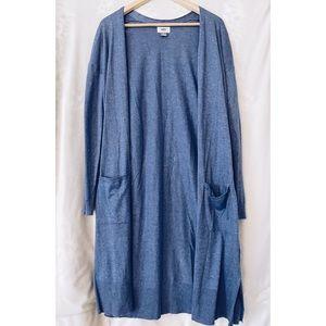Old Navy blue long line cardigan, L